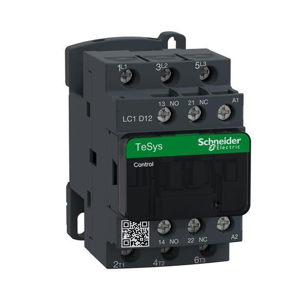 TELEMECANIQUE - Contacteur 12A AC-3 - 3P 1NO 1NC - 230V AC 50...60Hz