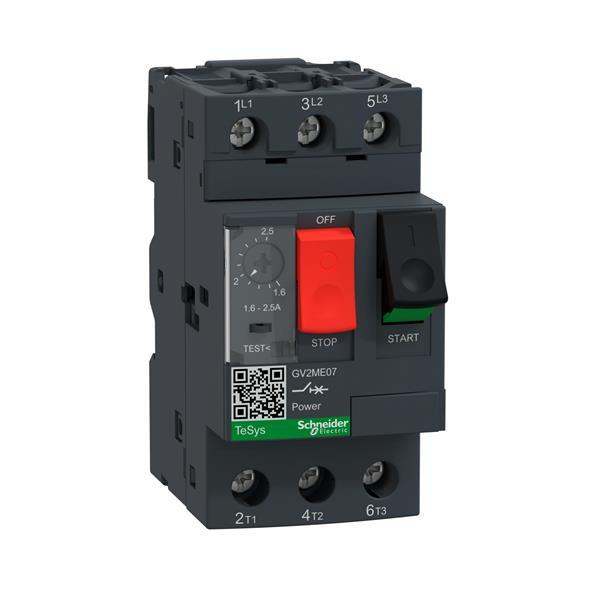 TELEMECANIQUE - disjoncteur moteur GV2-ME - 1,6..2,5 A - 3P 3d - déclencheur magnéto-thermique