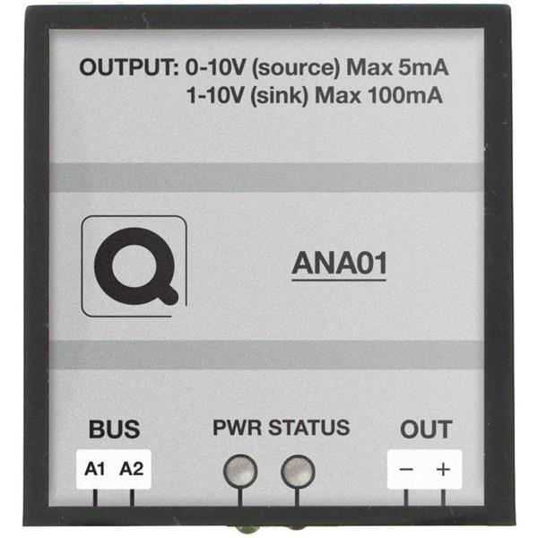 Qbus - Sortie analogique (1x 0/1-10V)
