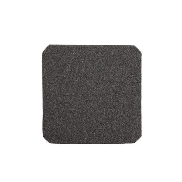 SAREL - grille sortie noire 124x124x11mm