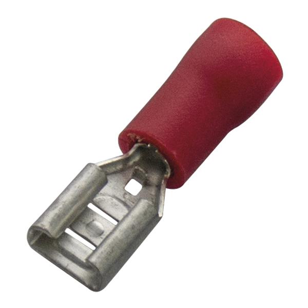 Haupa - Vlakstekerhuls rood PVC geïsoleerd 0,5-1mm² afmetingen stift: 4,8 x 0,5mm