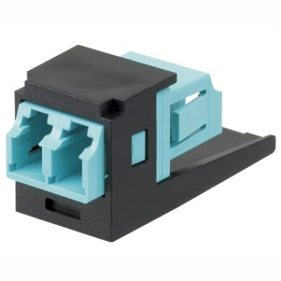 PANDUIT - Module + one LC Sr./Sr. 10Gig OM3/OM4 SFF Duplex Multimode Fiber Optic Adapter