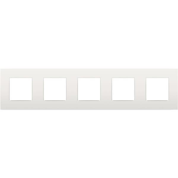 NIKO - Plaque de recouvrement (71mm) quintuple horizontal, blanc