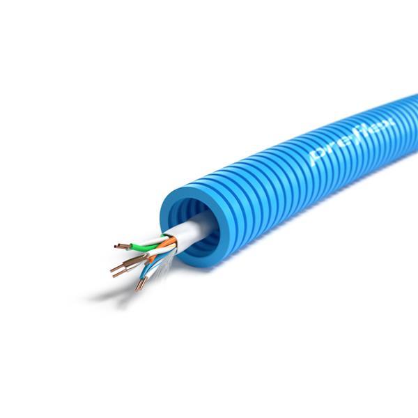 CABLEBEL - Preflex voorbedrade buis 16mm + datakabel U/UTP CAT6 4P PVC haspel 300m