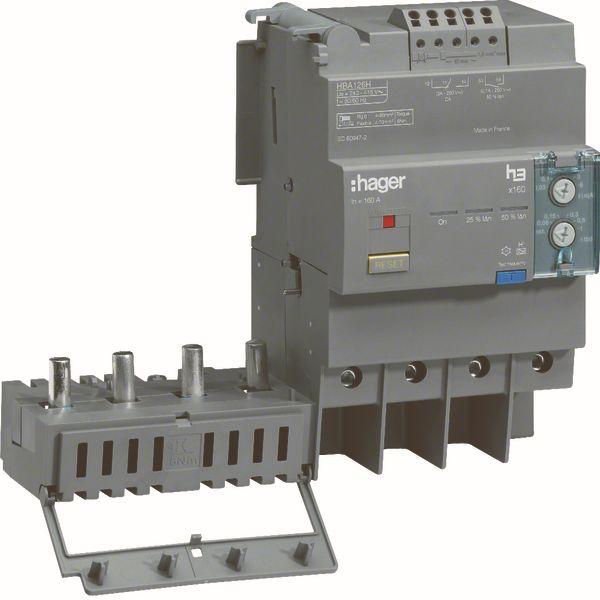 HAGER - Bloc différentiel électronique x160 4P 125A Idn réglable et déclen.t