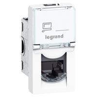 LEGRAND - LCS2 contactdoos RJ45 CAT6 U/UTP 1 module Mosaic witte kleur