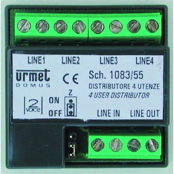 URMET - Distributeur vidéo 2Voice 1ent./4sort.