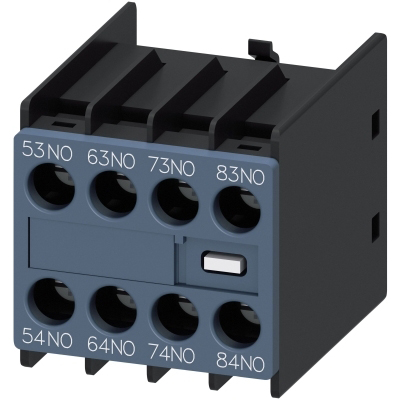 SIEMENS - AUX. SWITCH BLOCK , 4NO COND. PATHS: 1NO, 1NO, 1NO, 1NO FOR CONTACTOR RELAYS SZ