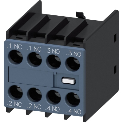 SIEMENS - AUX. SWITCH BLOCK , 2NO+2NC COND. PATHS: 1NC, 1NC, 1NO, 1NO, F. CONT. RELAYS A.