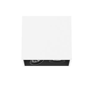 FLOS - COMPASS BOX SMALL Surface  for QR-CBC 51 lamp. Max. 2x35W.10º 60º. White