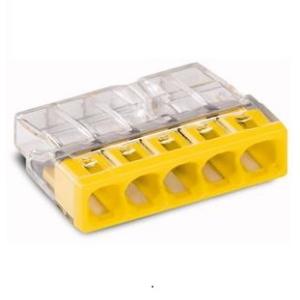 WAGO - Raccord 5x0,5-2,5mm transparant jaune