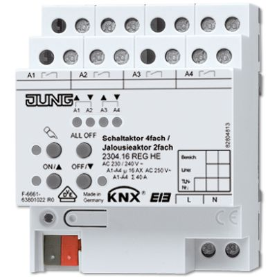 Jung - KNX actionneur TOR 4 sorties / actionneur volet roulant 2 sorties