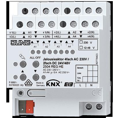 Jung - KNX Actionneur volets 4x 110-230V AC/2x 12-48V DC