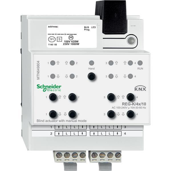 Gardy - Actionneur de volets/stores KNX REG-K 4x 10A à actionnement manuel