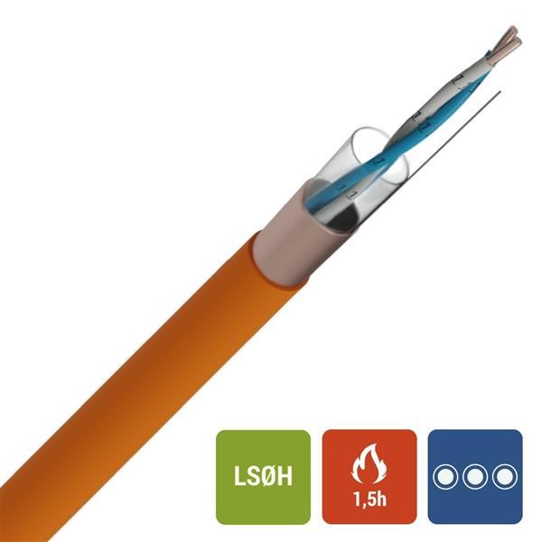 Veiligheidskabel - EUROSAFE NBN 713-020 Rf 1h30 LS0H oranje 500V 1X2X0,9mm