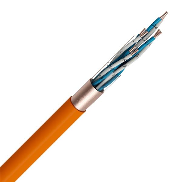 Veiligheidskabel - EUROSAFE NBN 713-020 Rf 1h30 LS0H oranje 500V 4X2X0,9mm