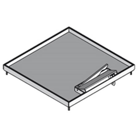 PUK - Set: cassette carrée en acier inox 19x258x258mm,4 vis M4x16,couvercle carré,12m