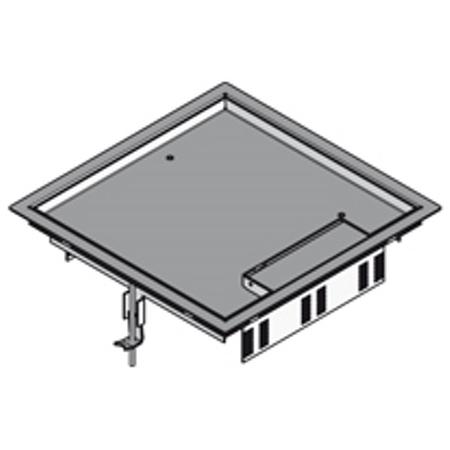 PUK - Boîte de raccordement carrée+rebord acier inox,284x284mm, 12mm