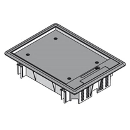 PUK - Boîte de raccordement rectangulaire+rebord en polyamide noir,206x280mm,prof.8mm