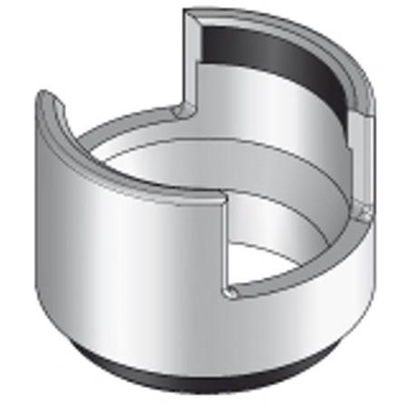 PUK - Cylindre en aluminium, diamètre 70mm, h=45mm à visser dans la sortie centrale.