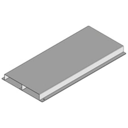 PUK - Gaine de sol fermée+2 can.28x250mm,l=3m fabriqué en tôle d'acier zingé Sendzimir