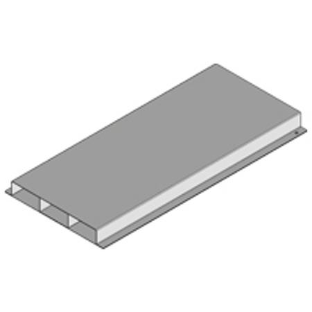 PUK - Gaine de sol fermée+3 can.38x350mm,l=3m fabriqué en tôle d'acier zingé Sendzimi