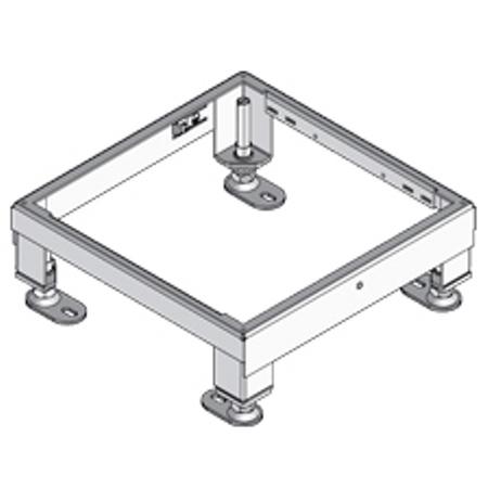 PUK - Unité de nivellement en acier, 258x258mm, h=160mm,réglable en hautueur +85mm