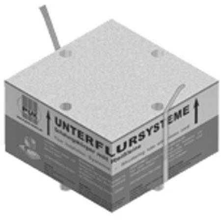 PUK - Corps de coffrage carré en polystyrène expansé,261x261mm,le corps: h=150mm