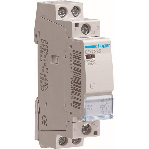 HAGER - Vermogenscontactor 25A - 2P - 230V - AUTO - 2NO