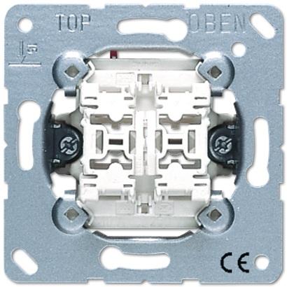 Jung - Bouton-poussoir double 10AX 250V 2NO