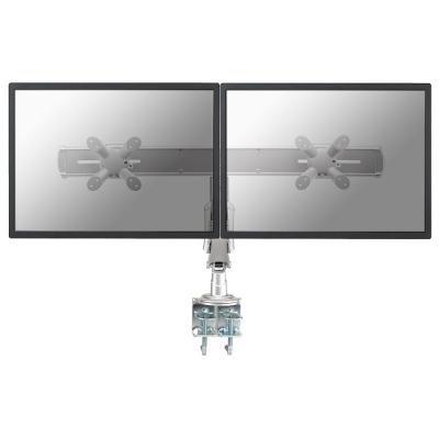 NewStar - Support Bureau  Ecran Plat - 2 x 10-24  - 7 kg - VESA 75&100 - Pince