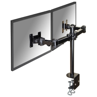 NewStar - Support de bureau écran plat - 2 écrans - H0-45cm - 10-27inch - pince - noir