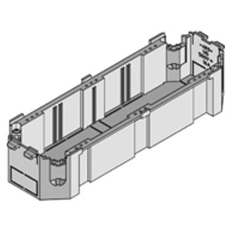 PUK - Boîte d'appareillage rectangulaire longeur 226mm,74mm + h=46mm avec des dents