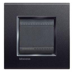 BTICINO - LivingLight - Rechthoekige afdekplaat 2 modules antraciet