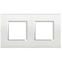 BTICINO - LivingLight - Plaque rectangulaire 2x2 modules 71mm blanc