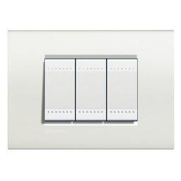 BTICINO - LivingLight - Rechthoekige afdekplaat 3 modules wit