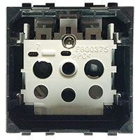 BTICINO - LivingLight - Contactdoos 2P+A 16A 250V 2 modules steekklemmen zonder toets