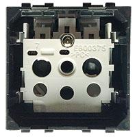 BTICINO - LivingLight - Prise 2P+T 16A 250V 2 modules bornes auto sans enjoliveur