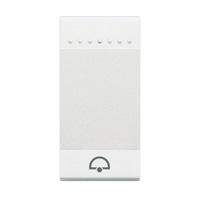 BTICINO - LivingLight - Touche bascule sonnette 1 module blanc