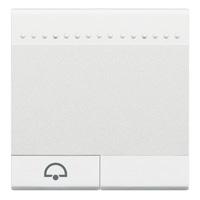 BTICINO - LivingLight - Touche bascule sonnette 2 modules blanc