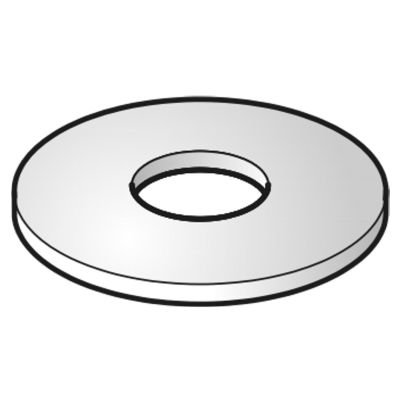 VERGOKAN - Rondelle large (DIN 9021) E = M10, exécution: Hot-Dip