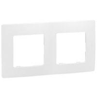 LEGRAND - Niloé plaque double blanc entraxe 71mm vertical / horizontal