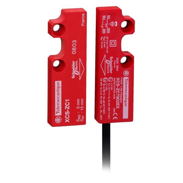 TELEMECANIQUE - gecodeerde magn. sch. XCSDMC - ATEX - 2 NC, zigzag - kabel 10 m