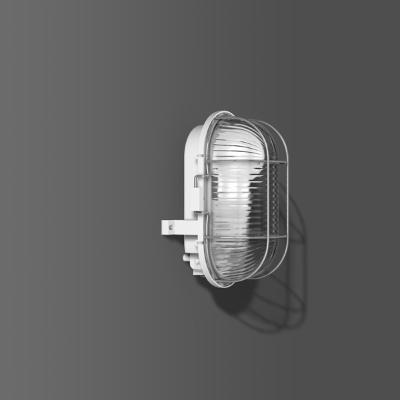 RZB - Armatuur ovaal standard A60 100W E27 193x126x115 on/off