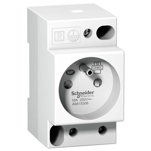 MERLIN GERIN - DIN stopcontact iPC - 2P+E - 16A - 250VAC - NFC 15100 - Franse norm