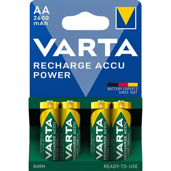 VARTA - PROFESSIONAL RECHARGEABLE ACCU rechargeable Ni-MH HR6 Penlite AA 1,2volt 2600mA