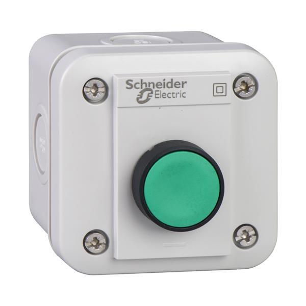 TELEMECANIQUE - Drukknopkast XAL-E - 1 verzonken drukknop - terugverend - groen - 1NO - I