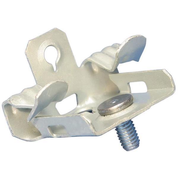 ERICO - Flens clip, bodem montage met draadeind, Verenstaal, 8-14 mm (5/16''-1/2'') Flen