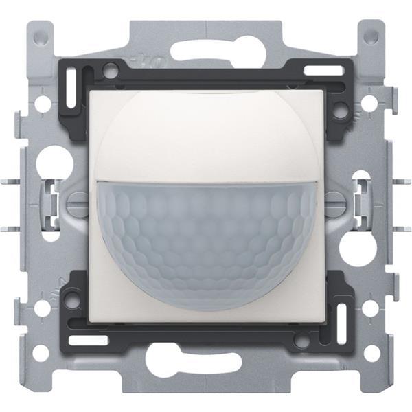 NIKO - Bewegingsmelder 180° inbouw (sensor+actor) met schakelcontact 10A, white