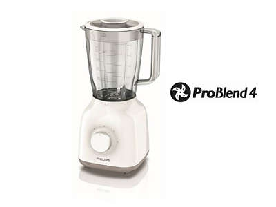 PHILIPS - Blender Daily Collection - 400W - 1,5l - 2 snelheden & pulsstand